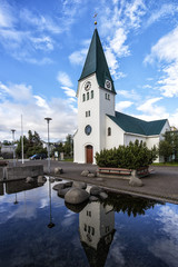 Wall Mural - Iceland Church