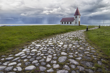 Fototapete - Helnar Church Iceland
