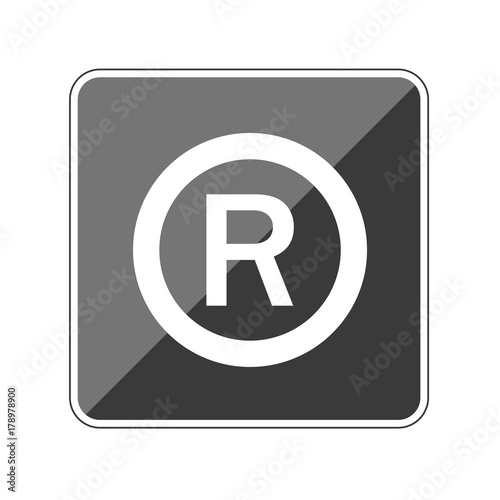 R Copyright Reflektierender App Button Stock Image And Royalty