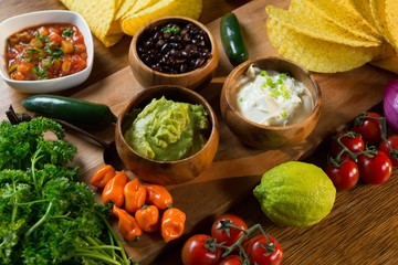 Various mexican food ingredients