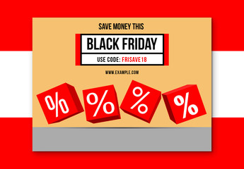 Black Friday Sale Social Media Post Layout 2