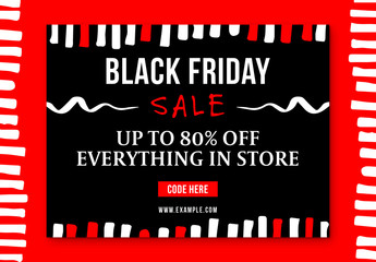 Black Friday Sale Social Media Post Layout 6