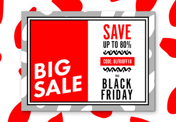 Black Friday Sale Social Media Post Layout 7