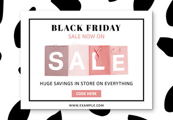Black Friday Sale Social Media Post Layout 8