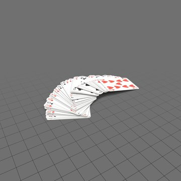 Pile of blue playing cards