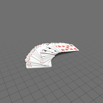 Pile of red playing cards