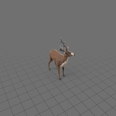 Stylized stag standing