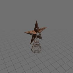 Ornate star tree topper