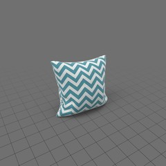 Blue zigzag pillow