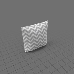 Grey zigzag pillow