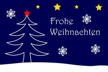 Frohe Weihnachten Karte mit Weihnachtsmotiv