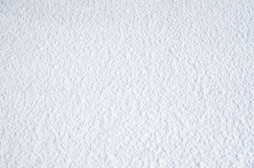 Snow bright surface in sunny day