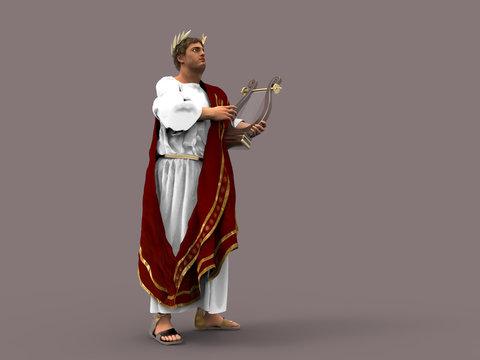 Ilustración del emperador Nerón