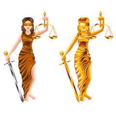 scales of justice isolated vector