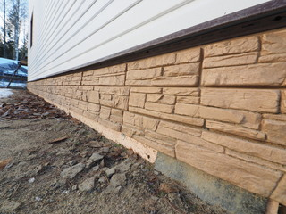 siding of frame house