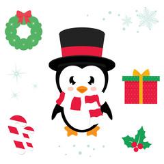 cartoon cute penguin ector cartoon illustration vector