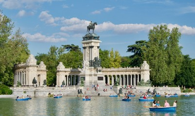 Poster de jardin Madrid Retiro park in Madrid