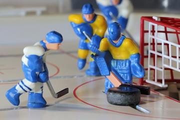 attack ice hockey match, table game, macro shot