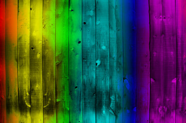 Rainbow Wood Texture Background