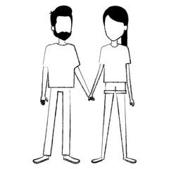 lovers couple avatars character