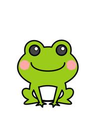 カエル(色、頬)