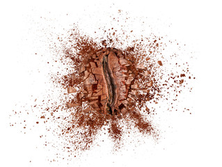Poster Café en grains Explosion of coffee bean isolated on white background