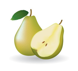 whole pear and a half