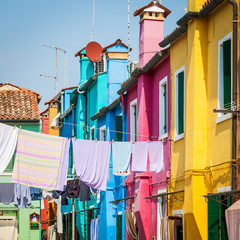 Fototapete - Colored houses in Venice - Italy
