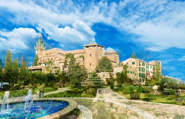 Wall Mural - Charterhouse or Royal Carthusian Monastery of Valldemossa village, Palma Mallorca, Spain