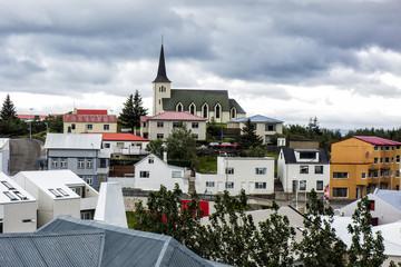 Fototapete - Hafnarfjordur Iceland