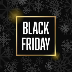 Black Friday Snowflakes Vector Illustration 1