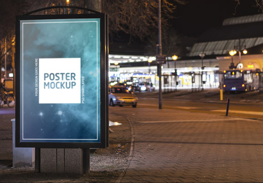 Outdoor Kiosk Advertisement Mockup 6