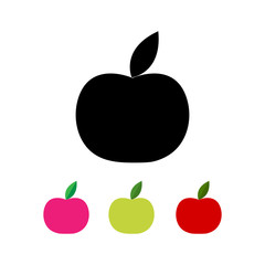 Vector illustration of apple in different colors