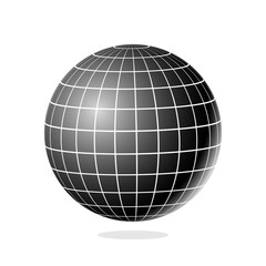 Abstract Globe with Meridians and Parallels. 3d Vector illustration.