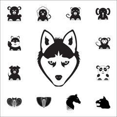 Wolf Head Icon. Set of animal icons. You can use in web or app icons