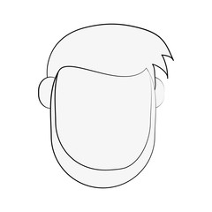 man with beard avatar head icon image vector illustration design  black sketch line