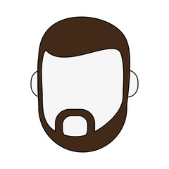 man with beard avatar head icon image vector illustration design