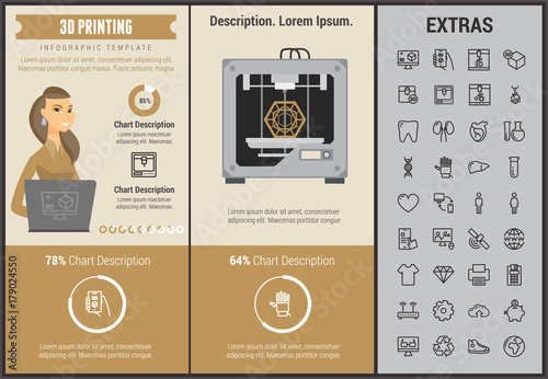3d printing infographic template elements and icons infograph includes customizable graphs charts