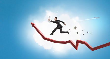 Climbing up to success. Mixed media