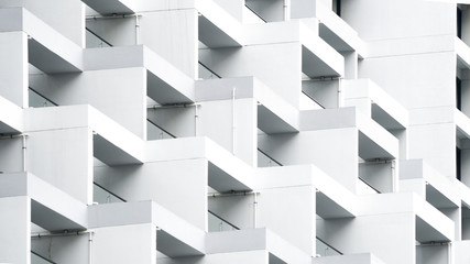 exterior white concrete pattern wall building