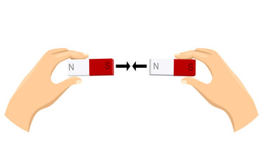 Hands Magnet Attract Illustration