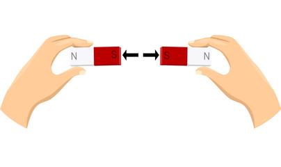 Hands Magnet Repel Illustration