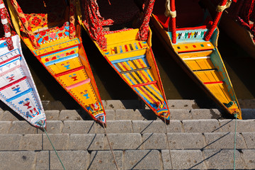 Colorful and graphic of Shikara boat at Dal lake ,Kashmir