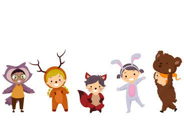 Stickman Kids Woodland Animals Costumes
