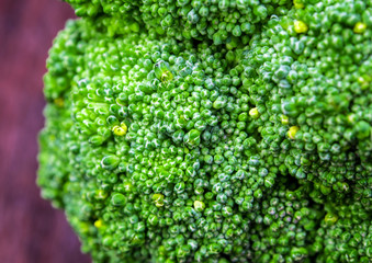 Surface texture of freshness Broccoli vegetable