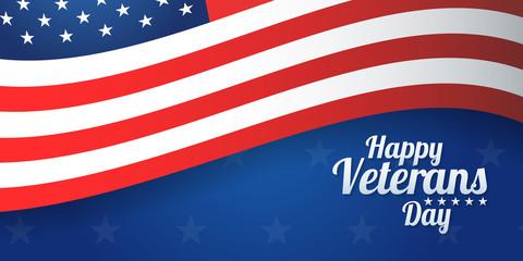 Background banner for Veterans Day, USA celebration. Vector design Happy Veterans Day