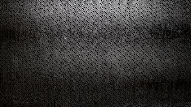 rusty black diamond plate background