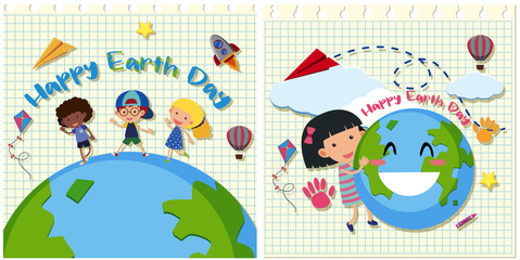 Happy Earth Day with kids on Earth
