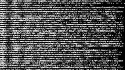 Code Scramble Overload  Full screen saver graphic loop as