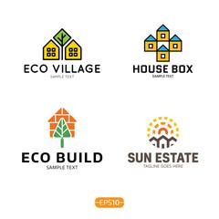 House Logo Vector Template Set